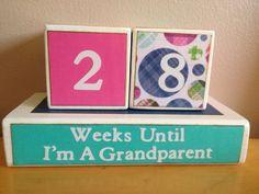 Countdown to grandchild, Grandparents Gift, Baby Announcement Gift, Perpetual Calender, New Grandparent Present