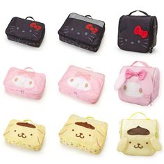0a4a31641bf New Melody Kitty Pudding Dog Foldable Oxford travel bag Luggage Cosmetic  Clothing Organizer Toiletry Washing Bag