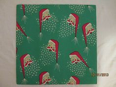 Vintage Christmas Wrapping Paper Atomic Santa | eBay