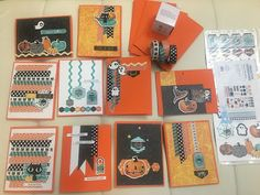 Halloween cards and washi tape