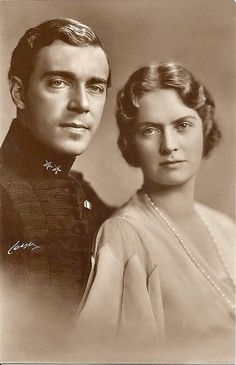 HRH the Crown Prince Gustav Adolf and the Crown Princess Sibylla of Sweden