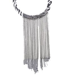 Fabulous Statement Leopard Printed Collar and Long Tassel Necklace