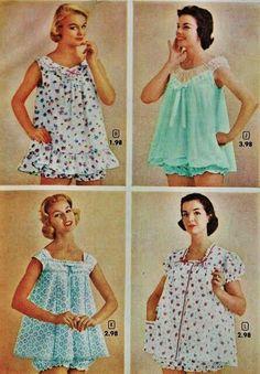 Baby doll pyjamas. These were our summer pyjamas.