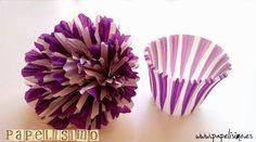 Flores de papel hechas con los moldes de cupcakes. ¡No te lo pierdas!
