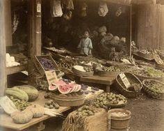 Felice Beato - Fruttivendolo - 1880 ca. Giappone