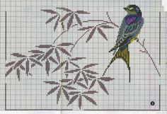 Ponto cruz: Pássaros Ponto Cruz