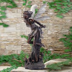 bronze fairy statue for the garden