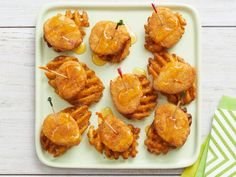 Get Mini Chicken and Waffles Recipe from Food Network