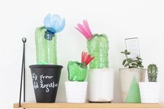 I saw this picture by artist Veronika Richterovaand I knew I wanted to make cacti just like that. Why…