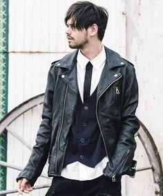 glamb(グラム)のMercury riders(ライダースジャケット)|ブラック
