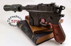 Airsoft - Han Solo's DL-44 heavy blaster pistol prop by 3PennyMarket on Etsy https://www.etsy.com/listing/214095438/airsoft-han-solos-dl-44-heavy-blaster