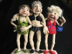 Andrea Graham felt art dolls