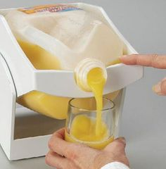 Who wants to lift a heavy bottle of orange juice first thing in the morning? Use this instead.