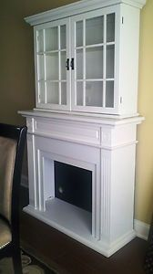 Ebay Fireplace Surround With Cabinet Above Mantel Cabinets Tv