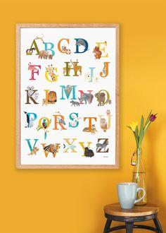 Nederlandse alfabetposter met dieren ABCposter door Revistaontwerp