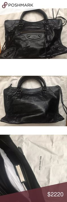 6817c6e1a60b Balenciaga Giant city bag black NWT Brand new Authentic I will notarise  this item and all