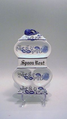 Rare 50s Blue Onion Old Town Blue Pattern by Lifeinmommatone, $25.00