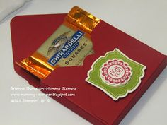 Mommy Stamper : Ghiradelli Treat Box with envelope punch board instructions