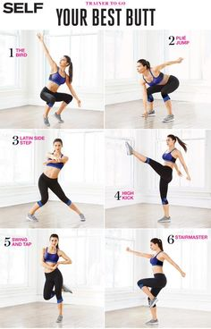 This routine focuses on tightening and toning your butt while working your entire body.