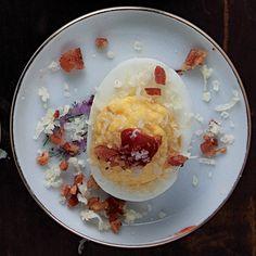 SAVEUR 100: Max Iattoni's Bacon-and-Cheese Deviled Eggs Recipe - Saveur.com