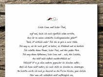Druck/Print: Glücksbrief zur Hochzeit/Verlobung