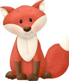 "Photo from album ""Осенний скрап от Nitwit"" on Yandex. Forest Animals, Woodland Animals, Cute Animal Clipart, Fox Crafts, Classroom Art Projects, Clip Art, Fox Art, Sewing Art, Woodland Creatures"