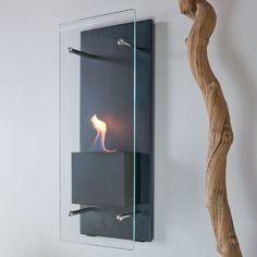 Cannello Wall-Mounted Ethanol-Burning Fireplace - contemporary - Fireplaces - Bluworld HOMelements $270