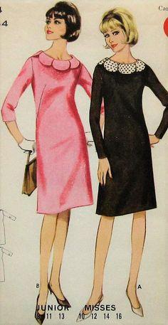Vintage Dress Sewing Pattern Butterick 3326 Size 14
