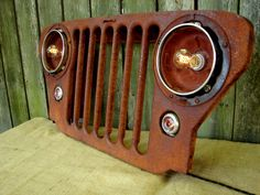 RESERVED for PATTI / Upcycled Vintage Jeep Grill Lighted Wall Decor
