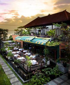 Italian restaurant/café Papas Limoncello located at Jalan pantai Kuta, Kuta, Bali    http://travelling-bali.com