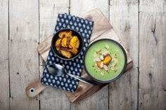 Cauliflower & Broccoli (and leek!) Soup with Sweet Potato Crisps — Kenkō Kitchen