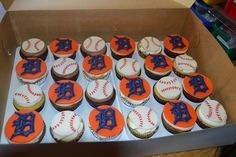 Detroit Tigers Cupcakes