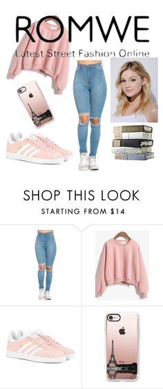 """Pink Sweatshirt"" by e-sekovanikj ❤ liked on Polyvore featuring adidas Originals, Casetify and Neutrogena"