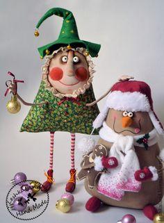 Happy New Year!!!!! - Новый Год,елка новогодняя,снеговик,авторская игрушка