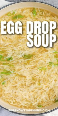 Soup Recipes, Dinner Recipes, Cooking Recipes, Recipies, Lunches And Dinners, Meals, Weeknight Dinners, Homemade Egg Drop Soup, Healthy Soup