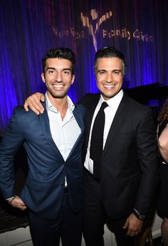 """Look how suave Rogelio looks with his brogelio and fellow Jane the Virgin cast mate, Justin Baldoni. 