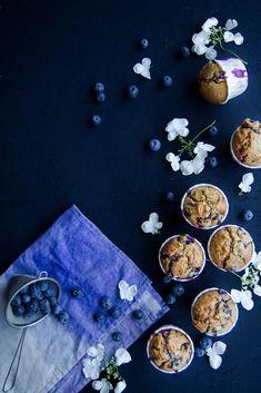 Muffins aux myrtilles {sans lait} - aime & mange