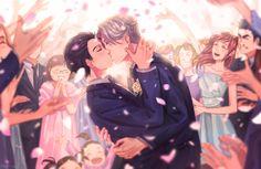 """Ameli-ya: """" Wedding day """".   Yuri Katsuki   Viktor Nikiforov   Yuri on Ice   YOI"""