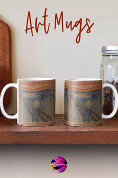Shop Art Coffee Mugs with #famouspaintings prints. #Munch #Scream #Expressionism #painter #mug #coffeemug #mugs #coffee #findyourthing #giftideas #artlover #artist #ValentinesDay #ValentinesGifts #ValentinesDayGift @redbubble @scardesign11 Gifts For Art Lovers, Lovers Art, Valentines Gifts For Him, Valentines Day, Cool Gifts, Unique Gifts, Bachelor Gifts, Shop Art, Samsung Galaxy Cases