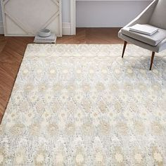 Textured Ikat Wool Rug From West Elm for Master Bedroom