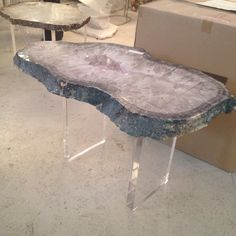 Superbe Lucite And Agate Coffee Table Agates, Apartment Living, Home Ideas, Coffee  Tables,