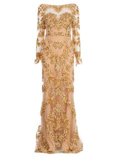 Zuhair Murad Floral Embellished Gown