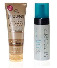 """The Best Bronzer or Self-Tanner From drugstores: This seven-time winner is everything you want in a self-tanner: """"a great scent, hydration, and foolproof color."""" Jergens Natural Glow Daily Moisturizer*, $9"""