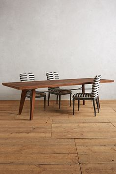 Rough-Hewn Dining Table #anthropologie