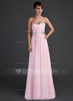Holiday Dresses - $136.99 - Empire Sweetheart Floor-Length Chiffon Holiday Dress With Ruffle Beading (020025944) http://jjshouse.com/Empire-Sweetheart-Floor-Length-Chiffon-Holiday-Dress-With-Ruffle-Beading-020025944-g25944