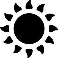 Silhouette Design Store - View Design #2201: sun