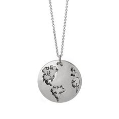 This worldly necklace captures the spirit of adventure.
