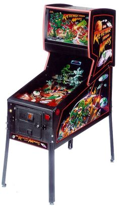 Revenge From Mars Pinball Machine. At first, I wasn't a fan. Now I must say I enjoy it. But you've gotta have a NuCore in it!!!