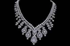 A striking #DiosabyDarshanDave statement #necklace, showcasing the artistic skill of Diosa's expert craftsmen. Scintillating in #SterlingSilver, it features fancy and brilliant cut #SwarovskiZirconia – each one intricately handset to perfectly showcase their natural luminescence. Perfect for #bridalwear and #destinationweddings!  #makeeverydaybrilliant #jewellery #finejewellery #traveljewellery #weddings  #precious jewellery