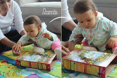 Atividades para bebes de 6-12 meses - caixa sucrilhos